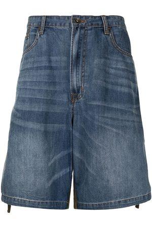 FIVE CM Shorts de mezclilla con diseño de dos tonos