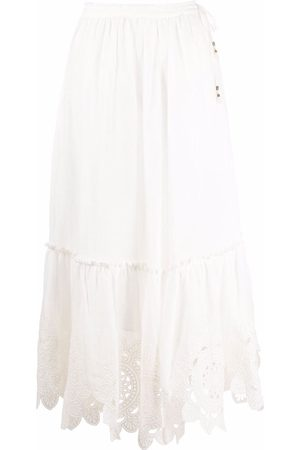 ZIMMERMANN Falda larga con bordado floral