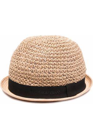 Dsquared2 Sombrero de verano con diseño entretejido