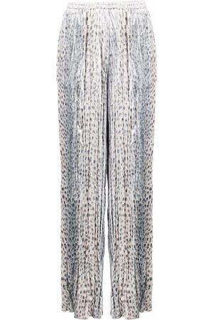 FORTE FORTE Mujer Pantalones y Leggings - Pantalones rectos con estampado de leopardo
