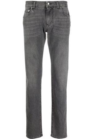 Dolce & Gabbana Hombre Rectos - Jeans rectos con tiro medio