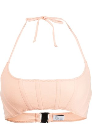 Lisa Marie Fernandez Mujer Bikinis - Bikini estilo corset con cuello halter