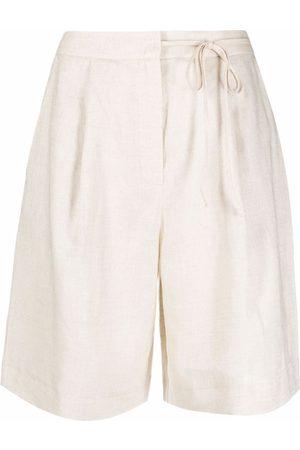 12 STOREEZ Shorts con lazo en la cintura