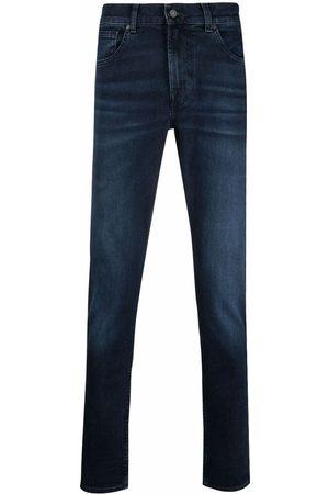 7 for all Mankind Jeans rectos con tiro medio