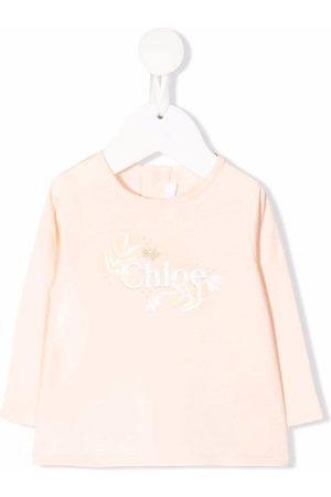 Chloé Playera con logo de glitter