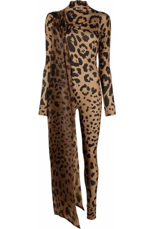 Atu Body Couture Mono largo con estampado de leopardo