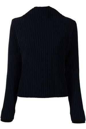 PORTS 1961 Suéter tejido de canalé con cuello de tortuga