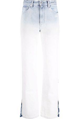 OFF-WHITE DEGRADE DENIM SPLIT SLIM FIT BLUE WHITE