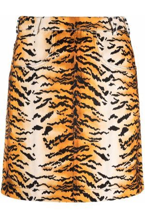 Philosophy Di Lorenzo Serafini Falda acampanada con estampado de tigre