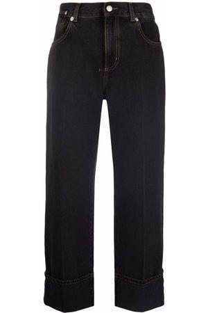 Alexander McQueen Jeans capri con tiro alto