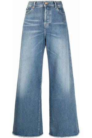 7 for all Mankind Jeans acampanados con tiro alto