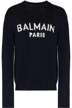 Balmain Suéter tejido con logo en intarsia