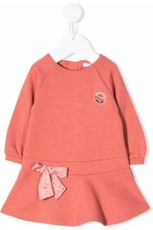 Chloé Kids Vestido estilo suéter con detalle de moño