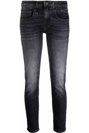 R13 Jeans capri con tiro bajo