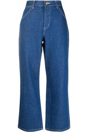Tory Burch Jeans capri con tiro alto