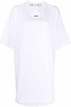 OFF-WHITE OFF STAMP COTTON TSHIRT DRESS WHITE NO C