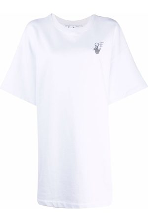 OFF-WHITE Mujer Playeras - CHINE ARROWS SNAP TSHIRT DRES WHITE MULT