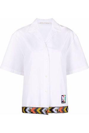 Palm Angels Camisa bowling manga corta