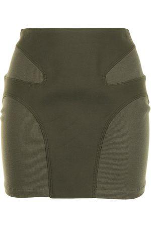 DION LEE Falda corta con detalle de costuras