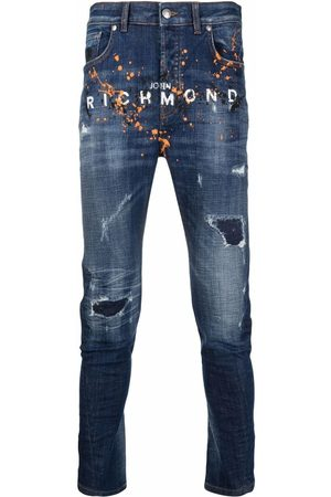 John Richmond Jeans slim con logo estampado