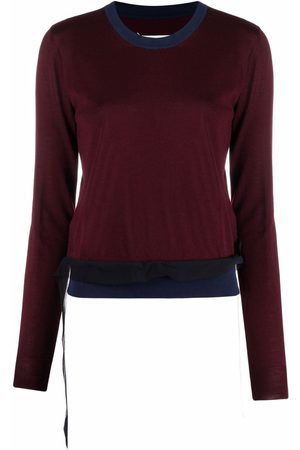 Maison Margiela Suéter tejido con diseño de dos tonos