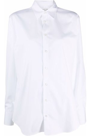 Maison Margiela Mujer Camisas - Camisa de popelina con botones