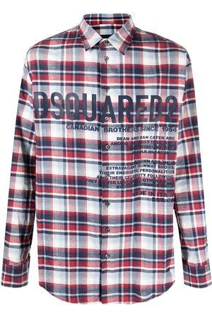 Dsquared2 Camisa de franela con logo