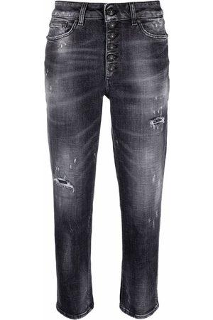 Dondup Jeans capri con efecto envejecido