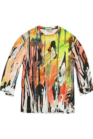 Christopher Kane Mindscape oversized long sleeve t-shirt