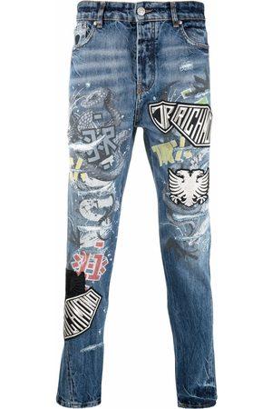 John Richmond Hombre Skinny - Skinny jeans con parche del logo