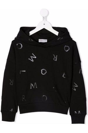 Moncler Niño Con capucha - Sudadera con capucha y letras estampadas