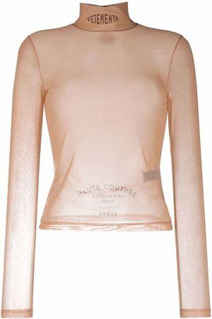 Vetements Mujer Tops - Top con cuello alto translúcido