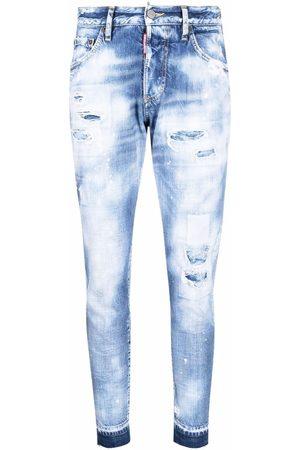 Dsquared2 Mujer Skinny - Jeans slim con efecto lavado ácido