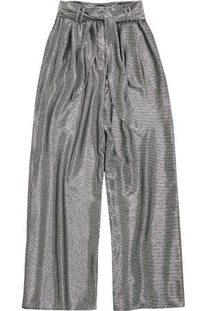Christopher Kane Mujer Anchos y de harem - Lamé mesh wide leg trousers