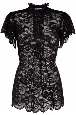 Paco rabanne Lace-embroidered sheer blouse