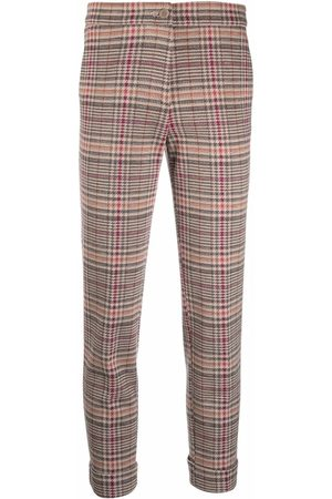 Etro Houndstooth-print cropped trousers