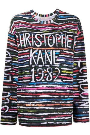 Christopher Kane Top con logo estampado