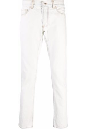 Marcelo Burlon County of Milan Logo-stitched straight jeans