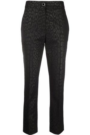 Roberto Cavalli Mujer Slim y skinny - Leopard slim-cut trousers