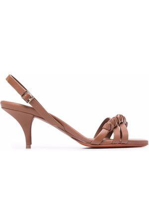 Santoni Leather slingback sandals