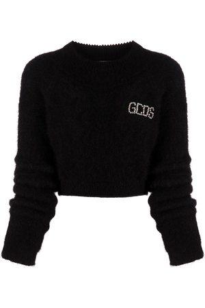 GCDS Suéter corto con logo