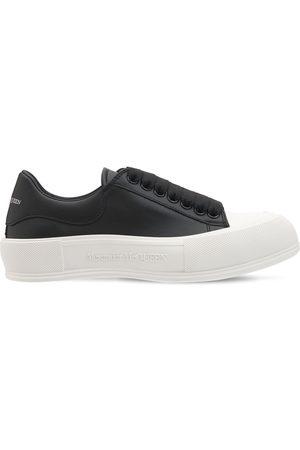 Alexander McQueen Sneakers De Piel Deck Plimsoll De Piel 45mm