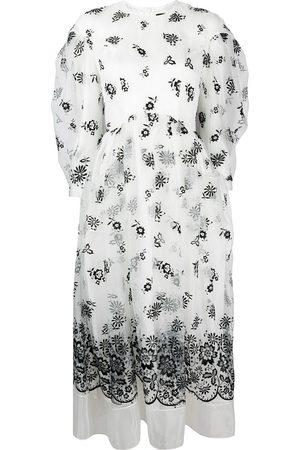 Simone Rocha Mujer Vestidos - Vestido de organza bordado