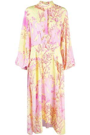 Stella McCartney Mujer Maxi - Vestido largo con estampado de coral