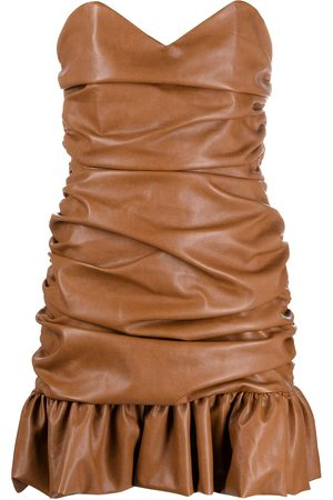 GIUSEPPE DI MORABITO Mujer Cóctel - Vestido corto fruncido de piel artificial