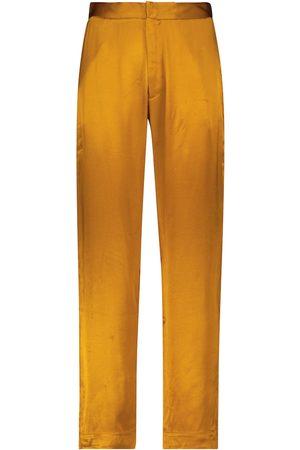 ASCENO Olbia bamboo satin pajama pants