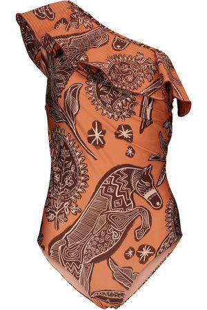 JOHANNA ORTIZ Incaico printed swimsuit
