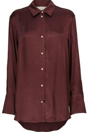 ASCENO Milan oversized bamboo satin shirt