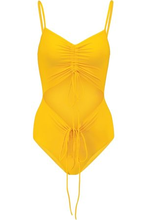CHRISTOPHER ESBER Cutout ruched swimsuit
