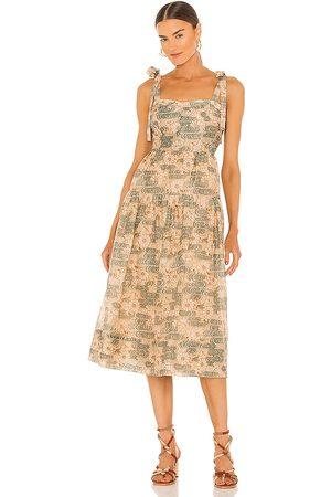 ULLA JOHNSON Vestido minerva en color marrón talla 0 en - Brown. Talla 0 (también en 2, 4, 6, 8, 10).